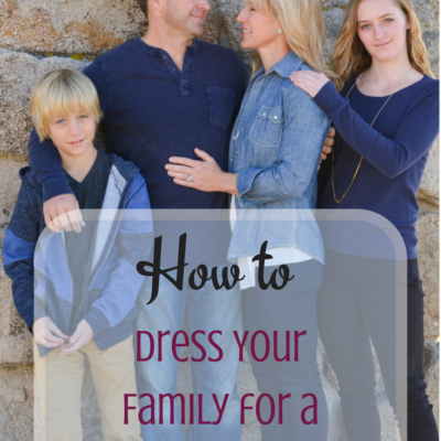 How to Dress Your Family for a Photo Shoot