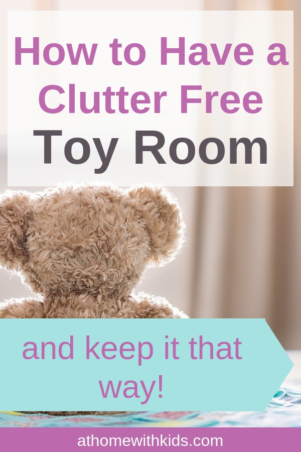 clutter free toy room